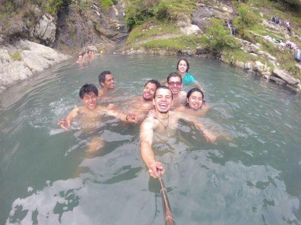 En las Aguas Termales de la Musuy.
