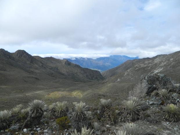 La Vista desde el tercer campamento, al fondo, el pueblo de Mérida aún no tan visible.